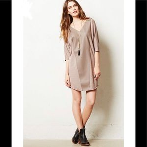 Anthropologie Faux Leather Dress